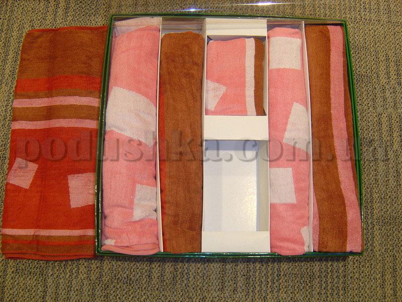 Набор бамбуковых полотенец Le Vele из 6 штук бордовые, розовые