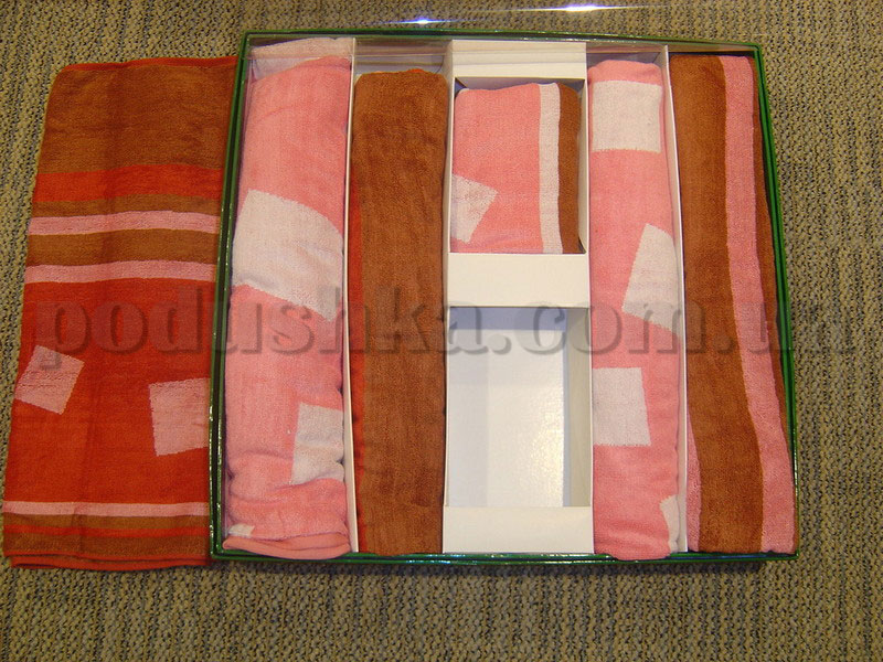 Набор бамбуковых полотенец Le Vele из 6 штук бордовые, розовые   Le Vele