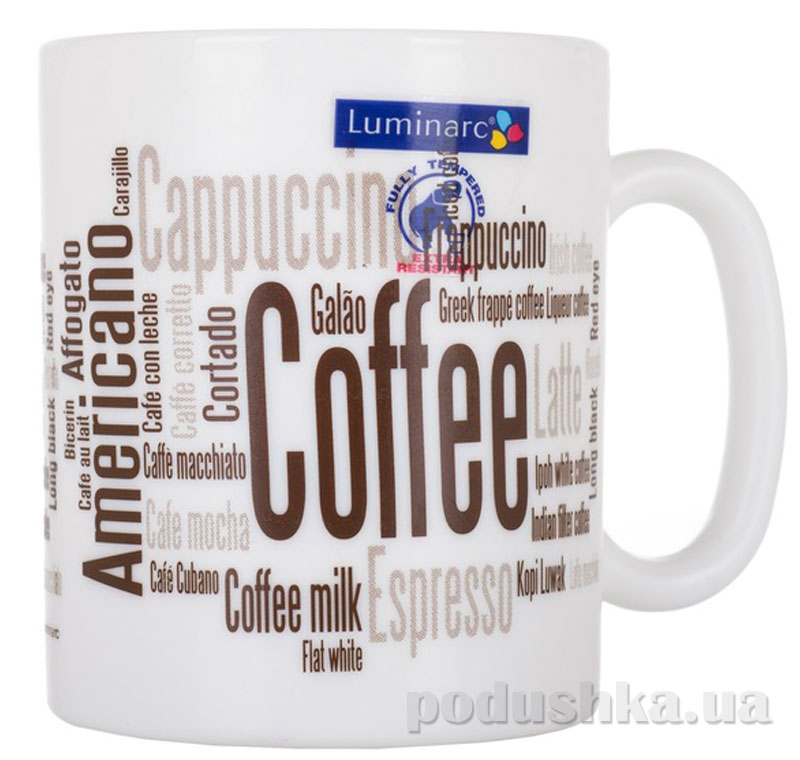 Кружка Luminarc Essence Coffeepedia 320 мл J9506   Luminarc
