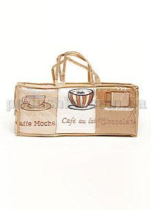 Набор махровых кухонных полотенец Hanibaba Кофе 6 штук