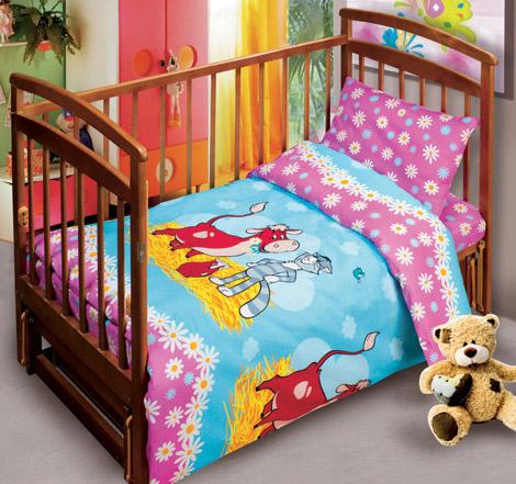 Постельное белье в кроватку Лето в Простоквашино