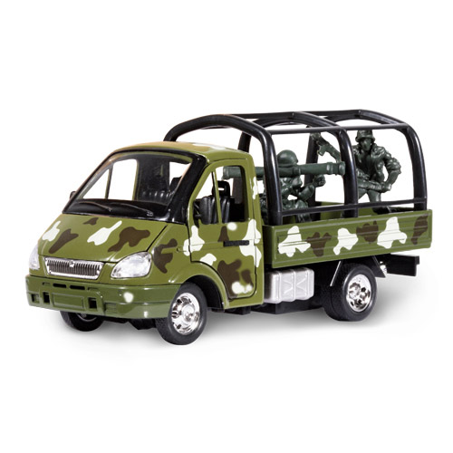 Автомодель - Газель Военная (с солдатами)