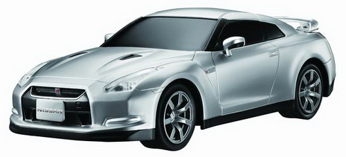 Автомобиль радиоуправляемый - 2008 Nissan GT-R (серебристый, 1:28)