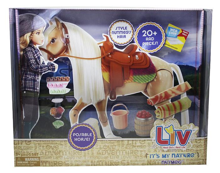 Лошадь для куклы Liv