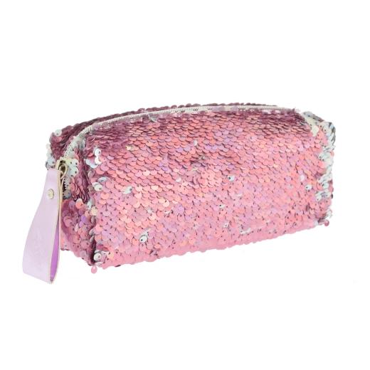 Пенал-косметичка Yes GP-01 Pink Sequins 20х8х3см 532691 розовый