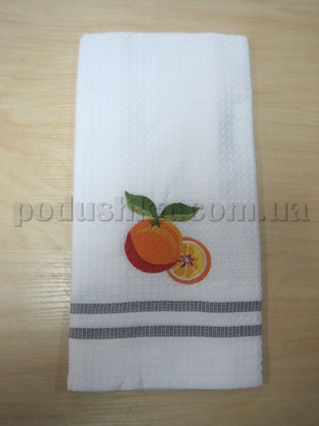 Полотенце кухонное вафельное Remzi Апельсин