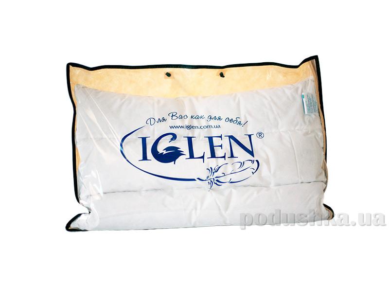 Облегченная пуховая подушка с ортопедическим эффектом, IGLEN 50х70 см вес 250 г IGLEN
