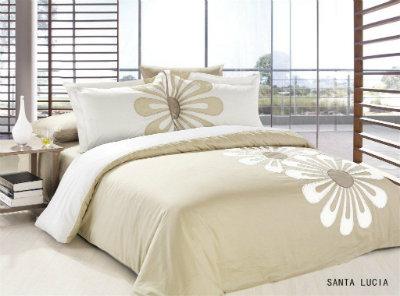 Постельное белье вышивка Le Vele SANTA LUCIA Двуспальный евро комплект  Le Vele