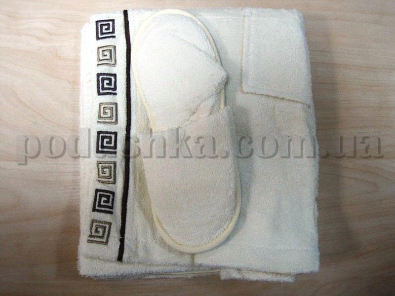 Набор для сауны мужской Nusa NS-250 кремовый