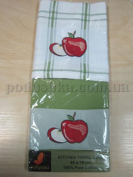 Набор вафельных кухонных полотенец Mariposa Яблоко зеленое