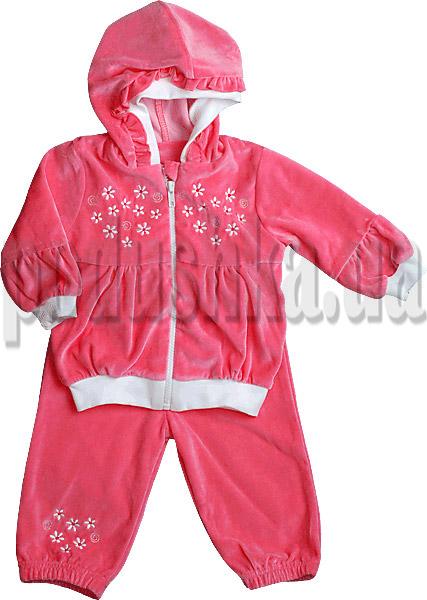 Спортивный костюм для девочек Ляля 2ТК110 с вышивкой Лилии