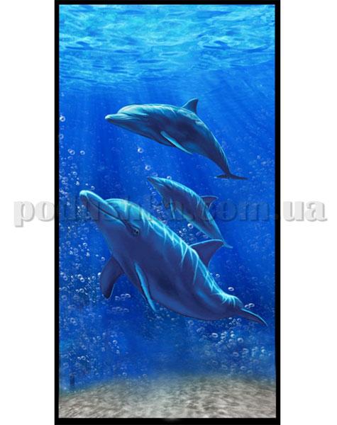 Полотенце пляжное Home line Три дельфина