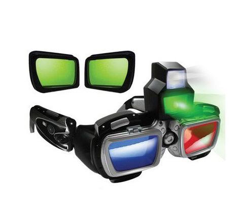 3D кибер-очки ночного видения HT с боковой камерой и звуком