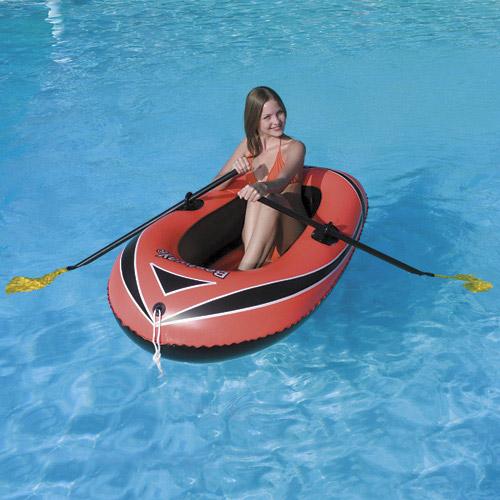 Лодка - BESTWAY надувная, от 6 лет, с веслами