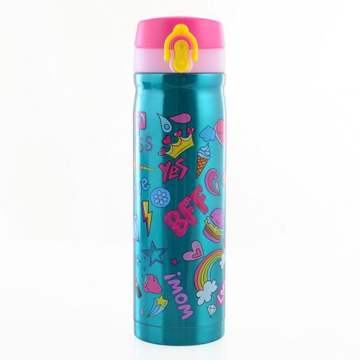Термос питьевой Yes BFF 500мл 706603 бирюзовый