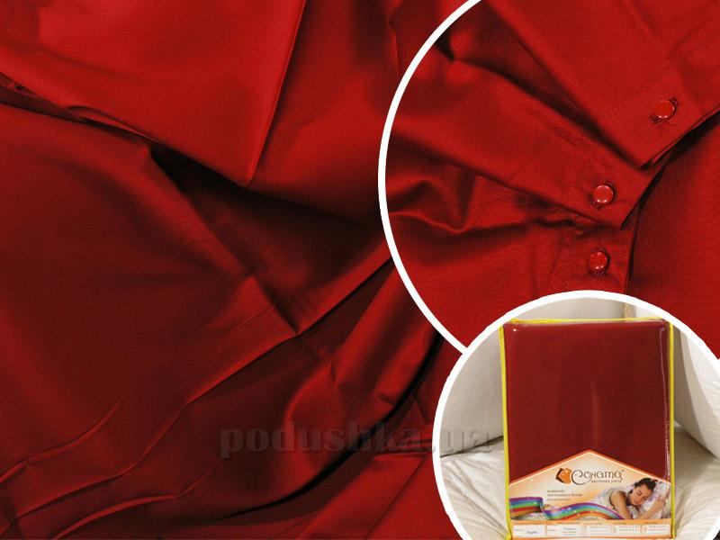 Постельное белье СОНАТА Бордо сатин Полуторный комплект  Соната
