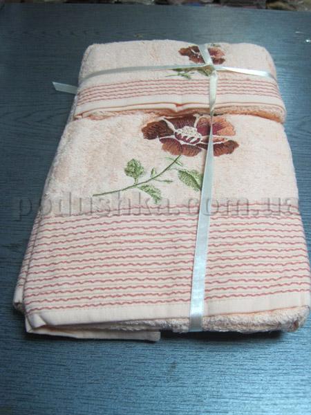 Набор махровых полотенец Mariposa Персиковый цветок