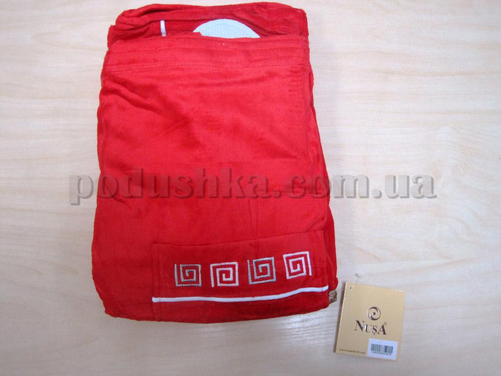 Набор для сауны мужской Nusa NS-250 красный