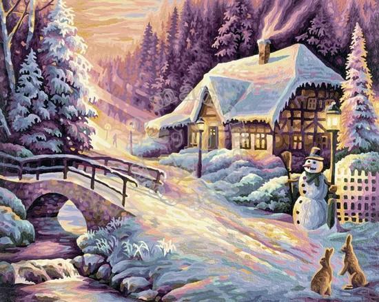 Художественный творческий набор Зима