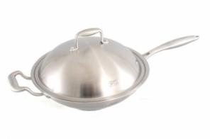 Сковорода-вок 32см с металлической крышкой 1617