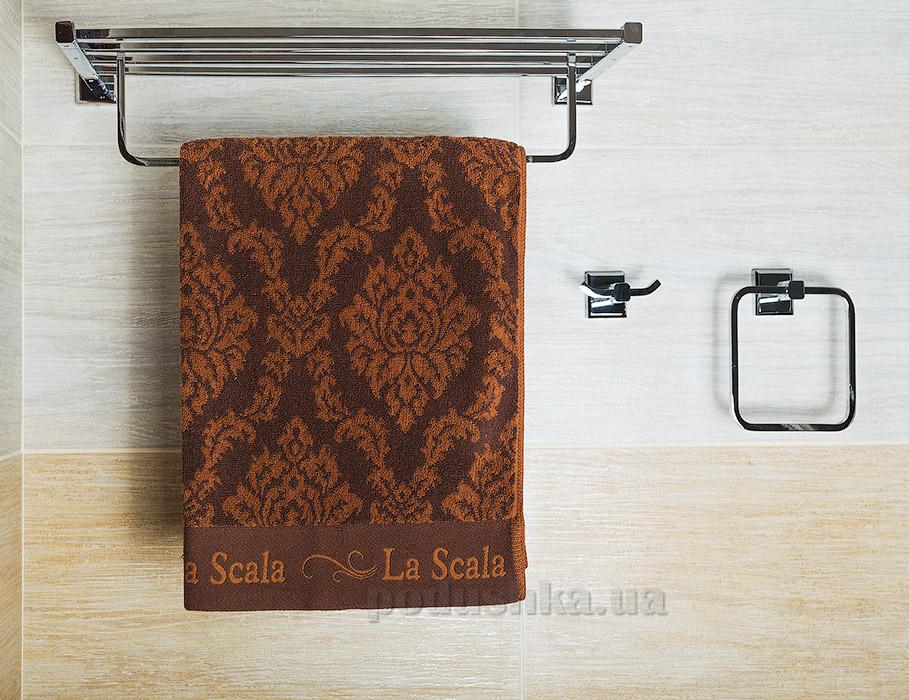 Полотенце La Scala CJ коричневое 30х65 см  La Scala