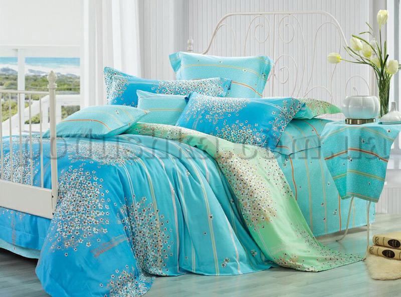 Постельное белье Home line Фиори голубой