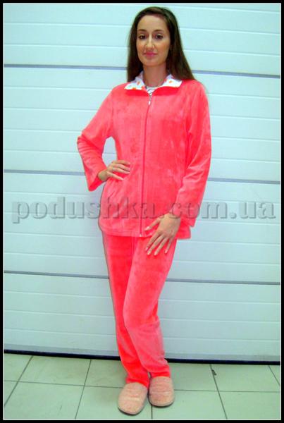 Домашний костюм женский велюровый с капюшоном Nusa NS-889