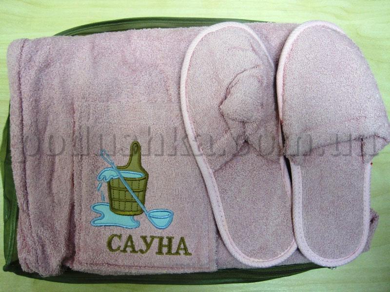 Набор для сауны женский Mariposa розовый Бочка