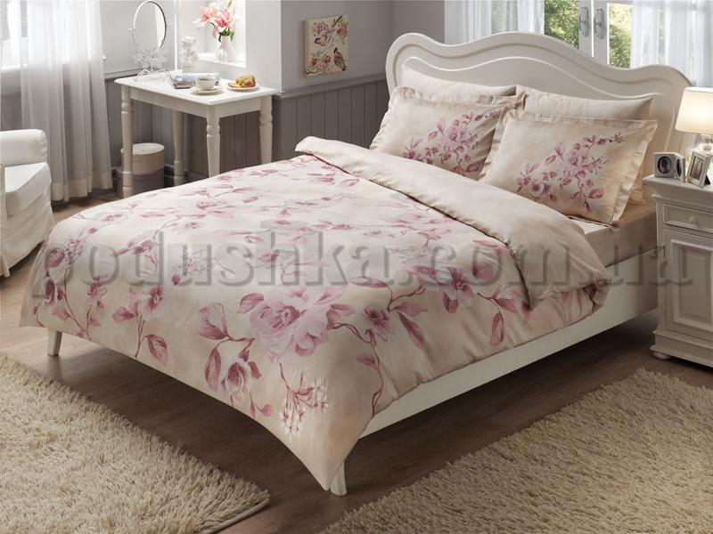 Постельное белье TAC Satin Magnolia V02 розовый