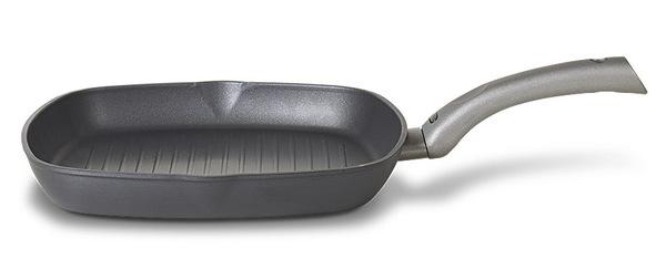 Сковорода-гриль TVS Mito Titanio Induction 28х28 см без крышки AY502284010001