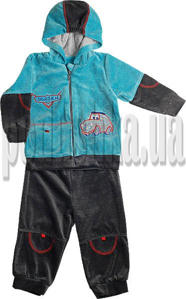 Спортивный костюм для мальчиков Ляля 2ТК109В велюр Машинки