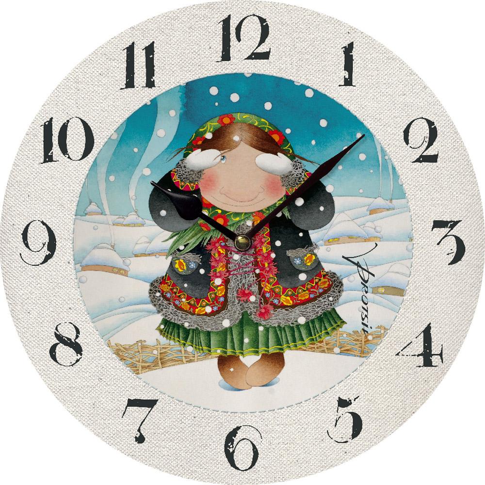Часы настенные ЮТА Зимние развлечения 330мм МДФ PR-003
