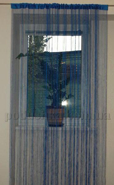 Ниточная тюль Haft 4699 синяя