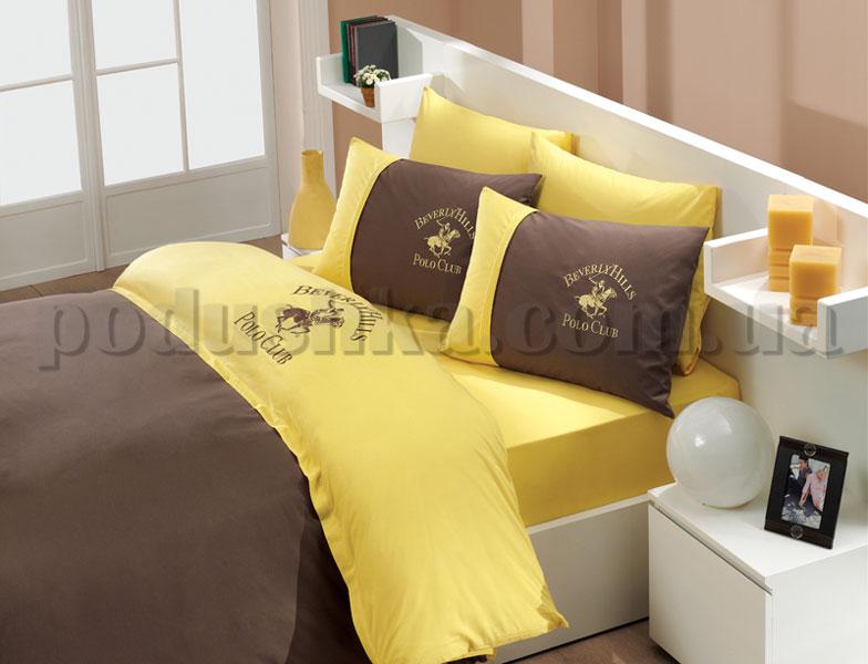 Постельное белье BHPC 101 brown-yellow