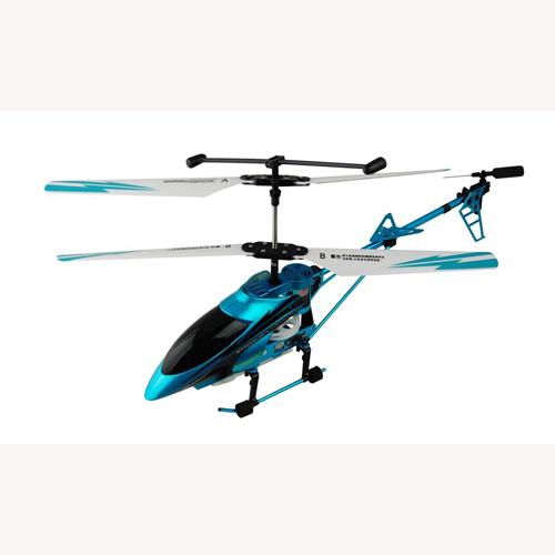 Вертолет радиоуправляемый - For Senior Players (голубой, 40 см, с гироскопом, 3-канальный)