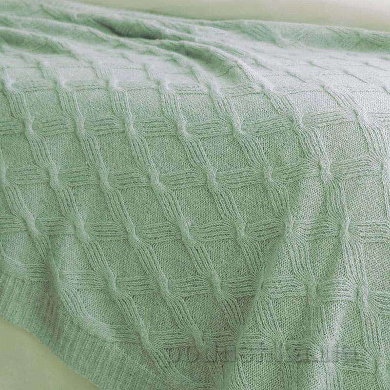 Плед шерстяной Pavia Silky светло-зеленый 130х170 см  Pavia