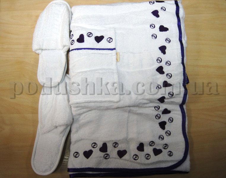 Набор для сауны женский Nusa NS-265 белый