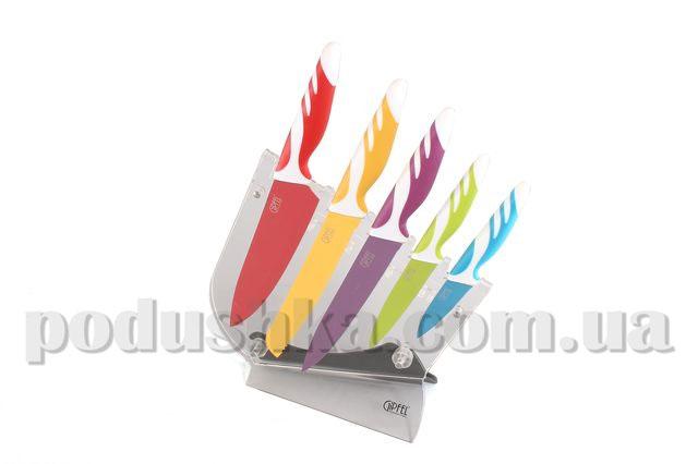 Набор ножей 6 предметов в пластиковой подставке 6757