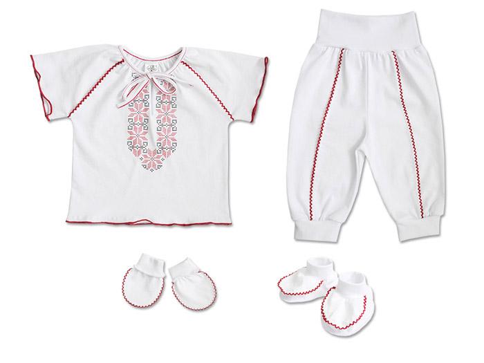 Комплект для девочки с вышивкой Фламинго 546 кулир