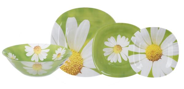 Сервиз столовый Luminarc Carina Paquerette Green 19 предметов N8507 зеленый