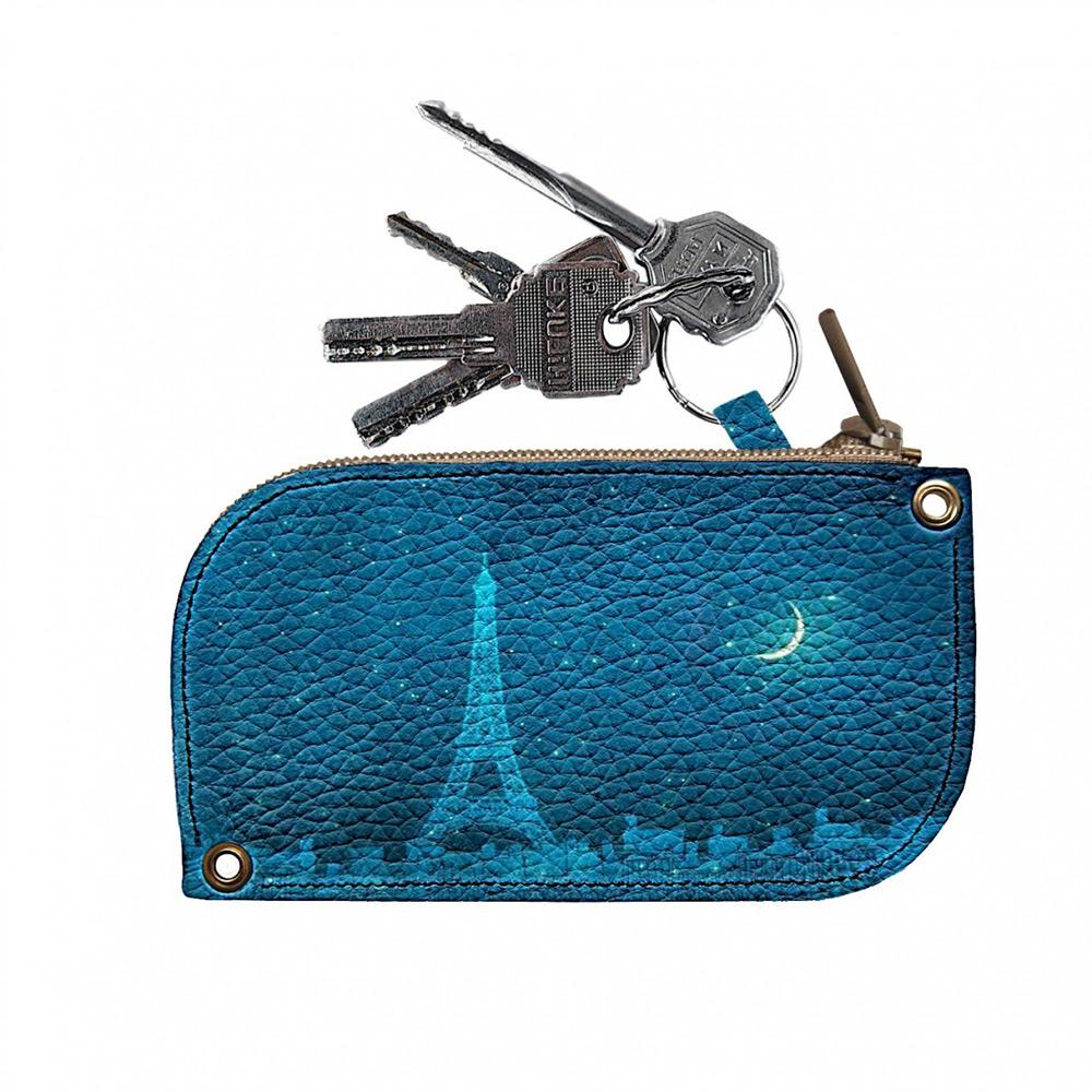 Ключница кожаная Devays Maker Ночь в Париже 8х14 см 10-01-134