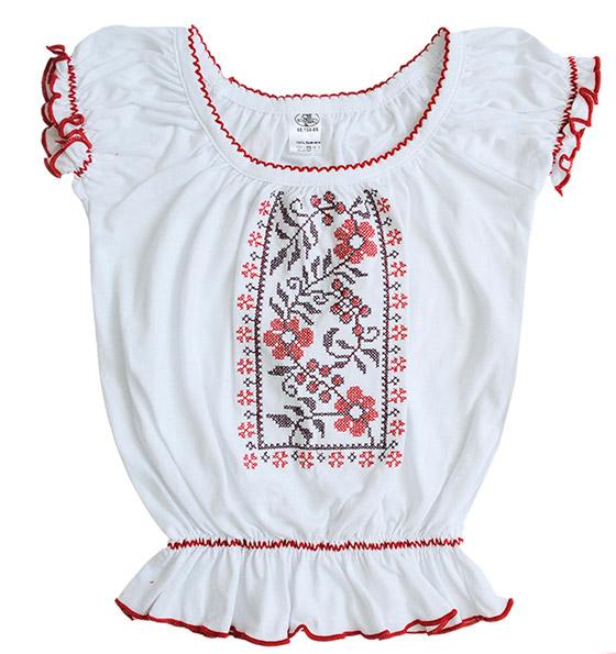 Блуза для девочек с коротким рукавом Фламинго 783 кулир