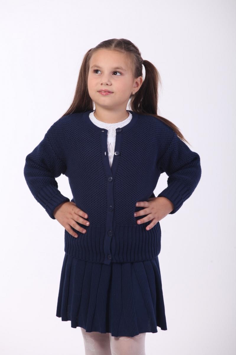 4c101294915 Жакет трикотажный для девочки ОТМ Дизайн 5515 синий купить в Киеве ...