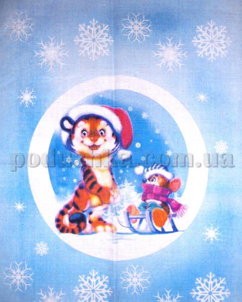 Кухонное льняное полотенце 09с93-ШР Тигрёнок