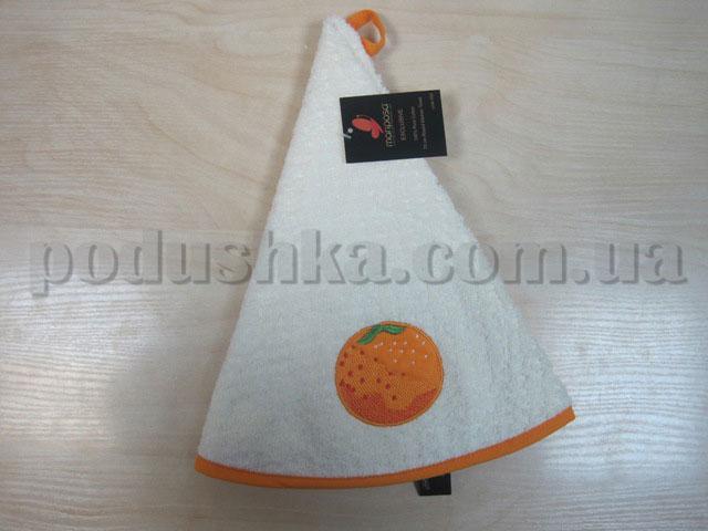 Полотенце махровое кухонное круглое Mariposa Апельсин