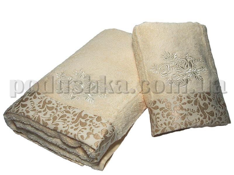 Набор махровых полотенец Pavia ROSE ECRU (50х90, 70х140)