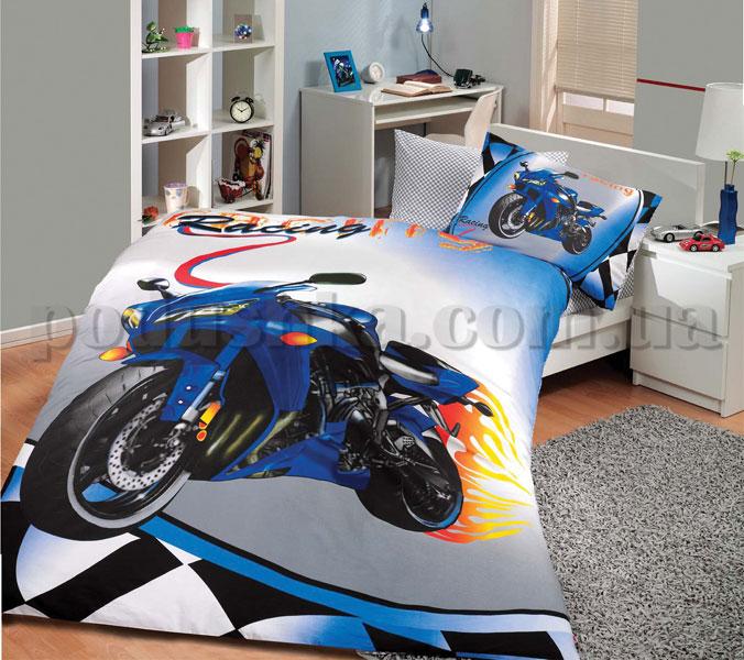 Постельное белье Hobby Moto Racing синий