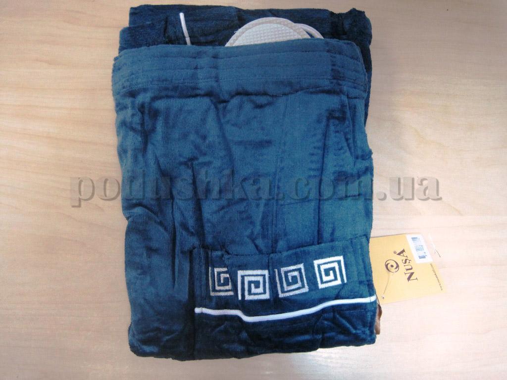 Набор для сауны мужской Nusa NS-250 синий new