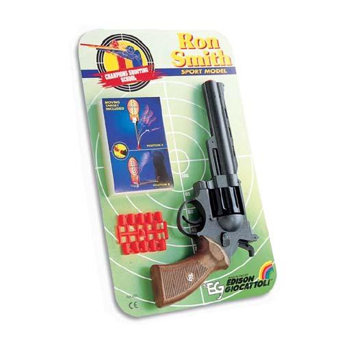 Спорт. револьвер - RON SMITH (8-зарядный,10 пуль, мишень)