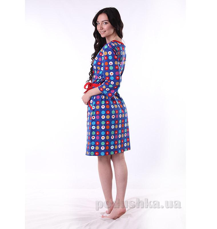 Женский халат VVL-TEX 311 синий S  VVL-TEX